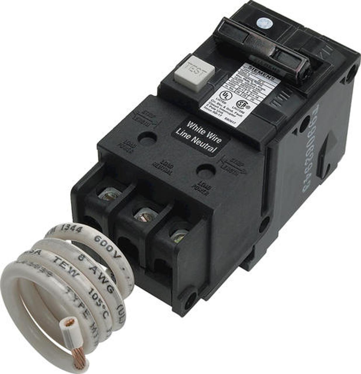 Sie 50 Amp Double Pole GFCI Breaker only Wiring Amp Breaker on wiring 30 amp breaker, wiring main breaker panel, wiring 100 amp breaker, wiring gfci circuit breaker,