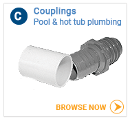 Hot tub plumbing couplings, all sizes