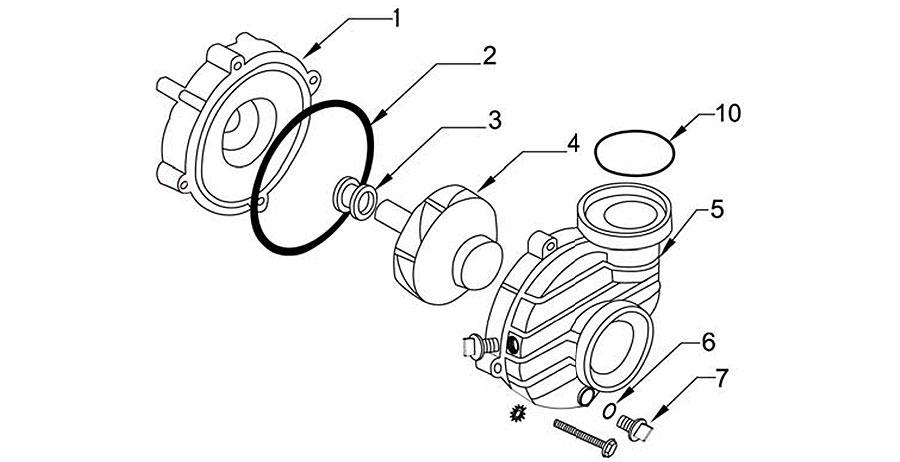 Ultrajet and Balboa Durajet pump parts