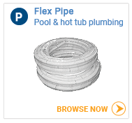 Hot tub plumbing flex pipe