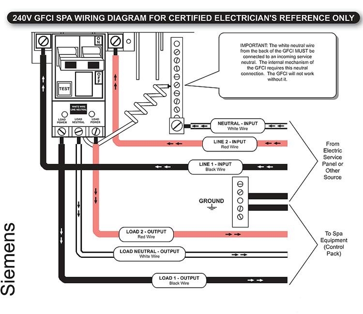 siemens gfci wiring diagram  schematic wiring diagram