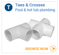 Hot tub plumbing Tees