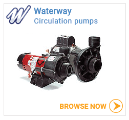 Waterway hot tub circulation pumps