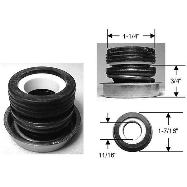 Waterway Pump Seal PS-1905 Commercial Grade