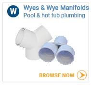 Hot tub plumbing wyes