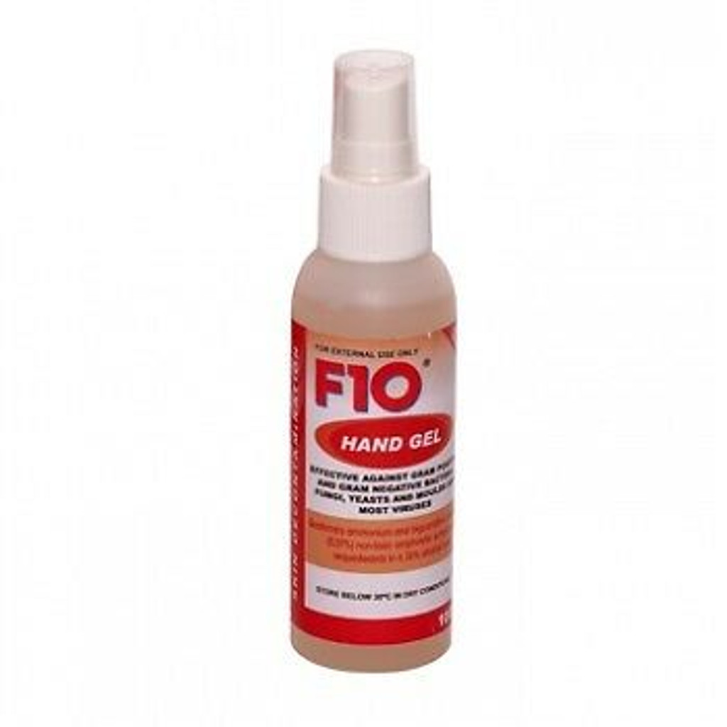 F10 hand gel disinfectant reptile cleaner