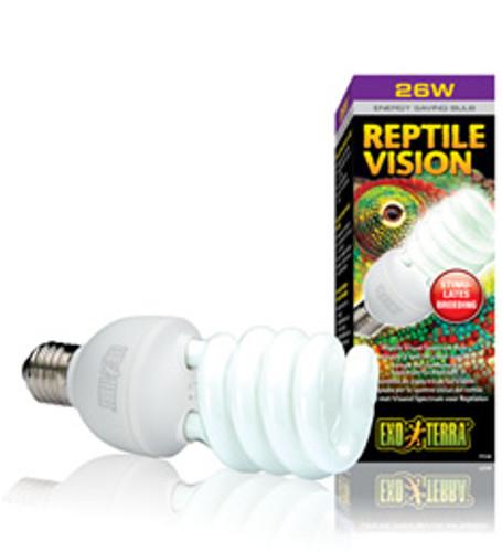 Compact fluorescent globe reptile vision