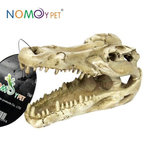 Croc skull ornament