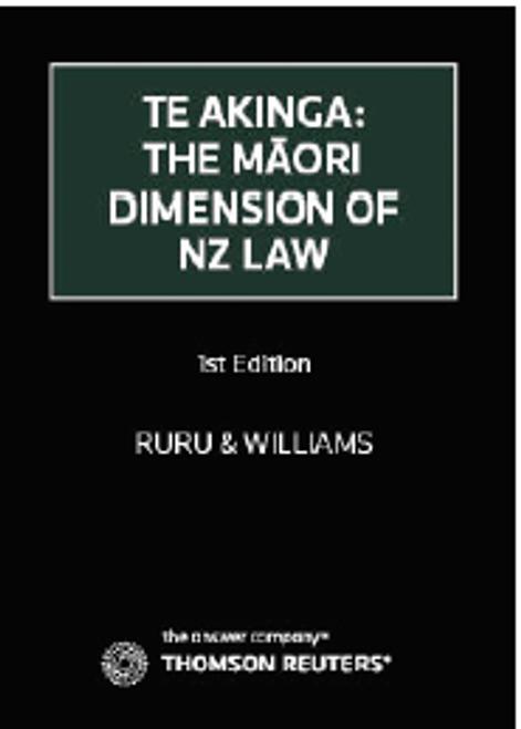Te Akinga : The Maori Dimension Of New Zealand Law