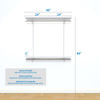 "freedomRail Basic Adjustable Closet Kit, 48""- 52"""