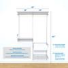 """freedomRail Premium Adjustable Closet Kit, 48""""- 52"""""""