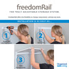"freedomRail Premium Adjustable Closet Kit, 72""- 76"""