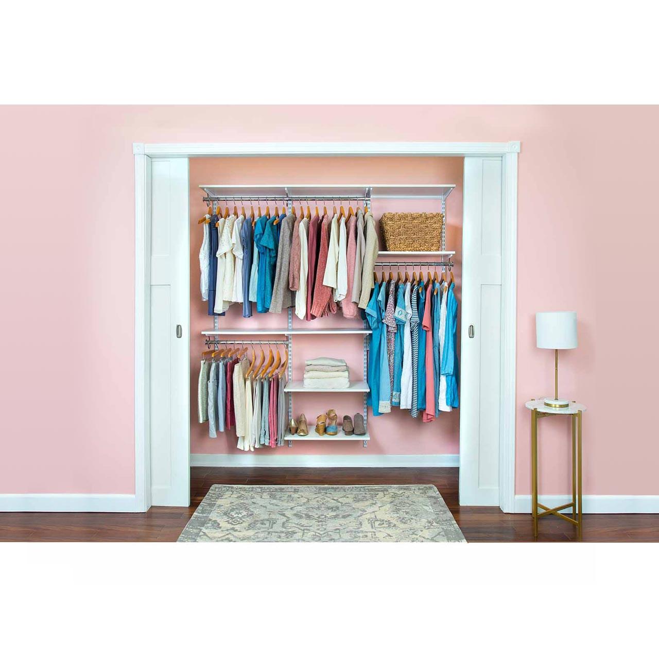 "Organized Essentials Adjustable Closet Kit - 72"""