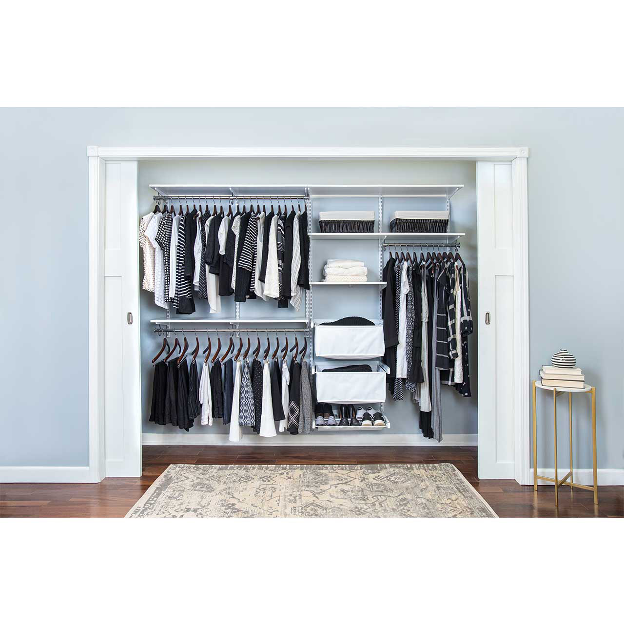 "freedomRail Premium Adjustable Closet Kit, 96""- 100"""