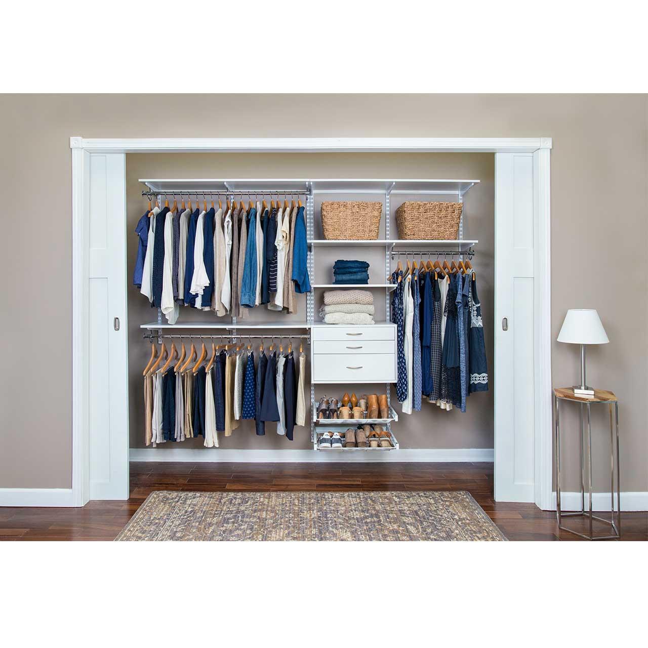 "Completely Organized Adjustable Closet Kit - 96"""