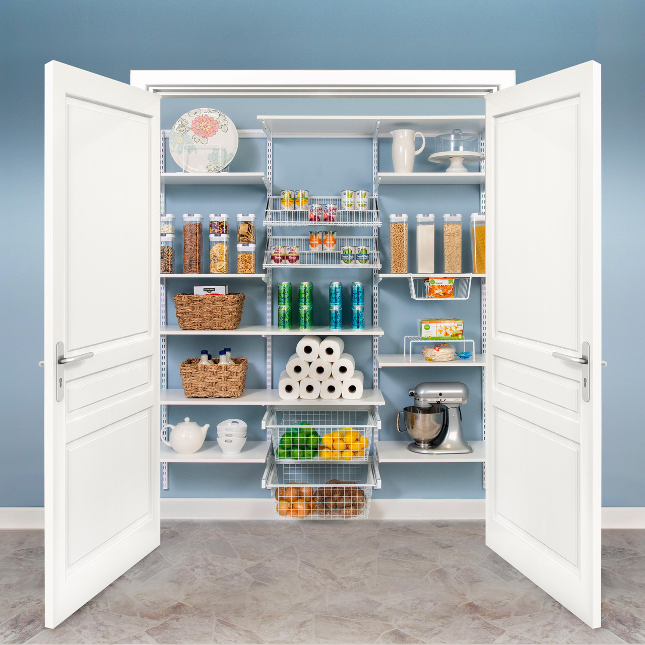 "Premium Adjustable Pantry Kit, 72""-76"""