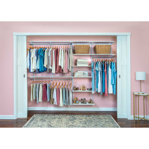 "Organized Essentials Adjustable Closet Kit - 96"""
