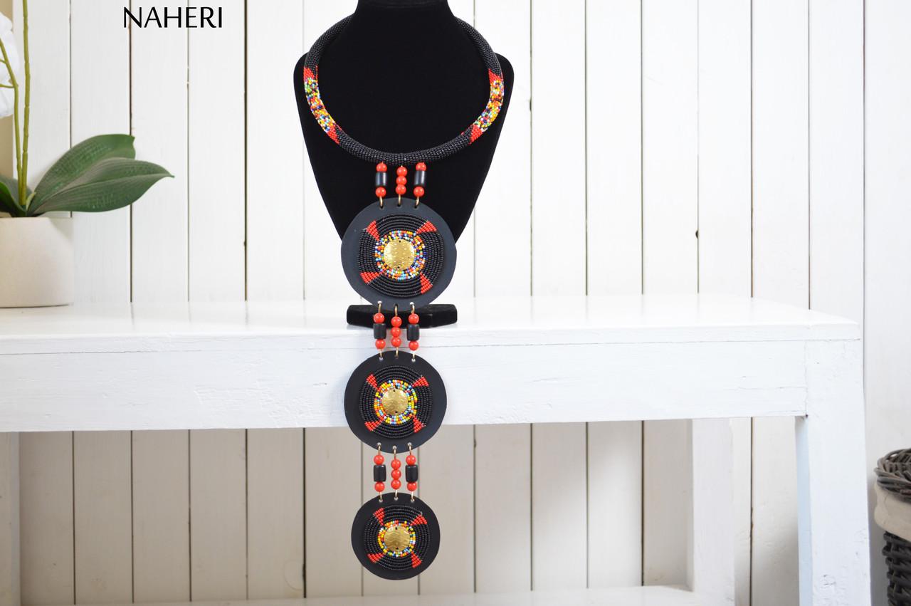Zulu Masai aBeaded teibal Necklace set