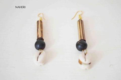 cowrie shell earrings tribal