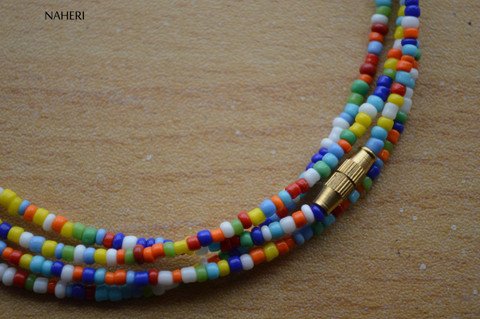 African beaded mixed color waist beads