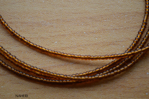 African inspired chocolate brown beaded waist beads
