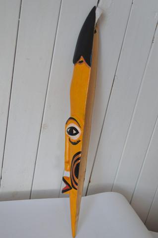 African inspired wall hanging mask slender
