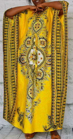 African inspired caftan Yellow