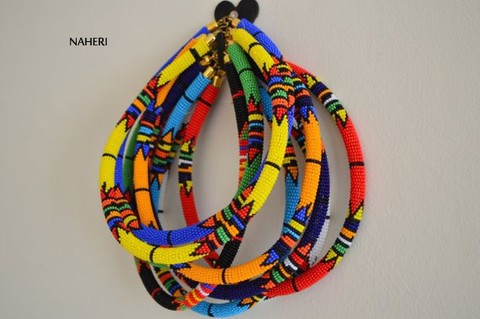 African maasai/zulu tribal beaded necklaces