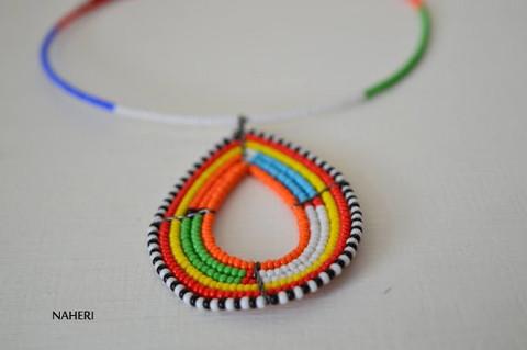 African maasai tribal pendant necklace