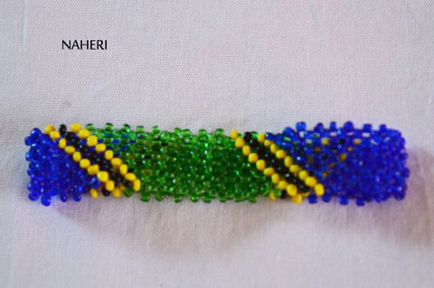 Flag bracelet and wristband for Tanzania African inspired bracelets