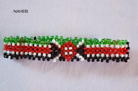 African inspired Kenya flag bracelet wristband