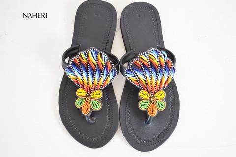 African maasai beaded sandals summer shoes for women