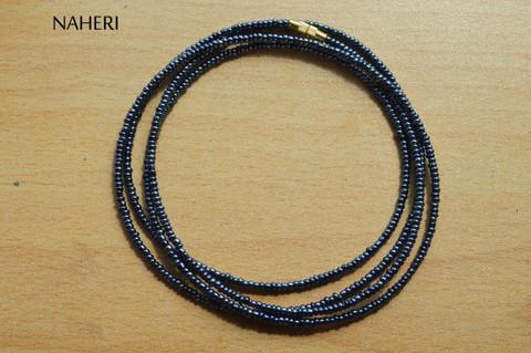 Hematite waist beads African beaded jewelry