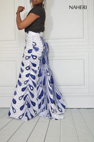 African print maxi skirt flared ankara mermaid skirt