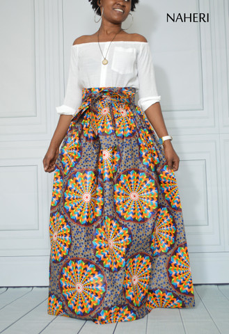 African print maxi skirt ankara wedding dress