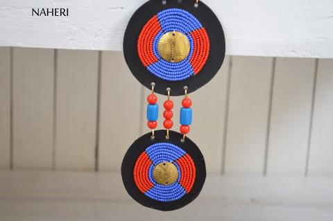 naheri African tribal beaded necklace maasai zulu beaded jewelry