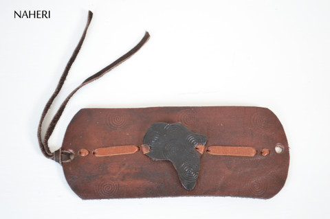 African map handmade leather bracelet tribal jewelry naheri