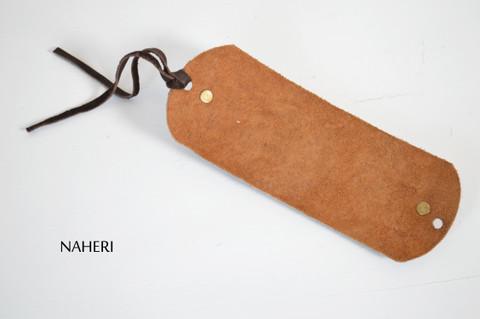 African tribal leather bracelet handmade map tribal jewelry naheri