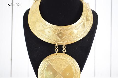 African brass metal necklace handmade trendy jewelry