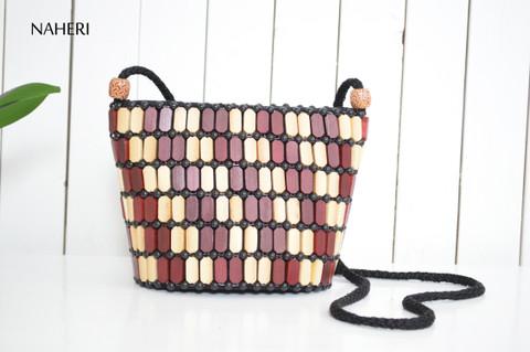 African beaded cross-body bag handmade sling handbag naheri