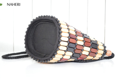 African beaded cross-body sling bag naheri accessories