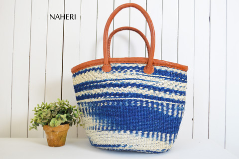 African sisal hand bag handmade leather accessories naheri