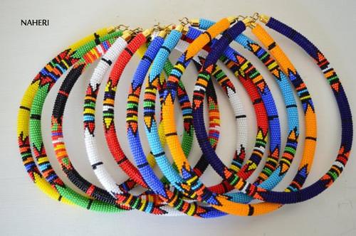 African maasai/zulu tribal beaded necklaces