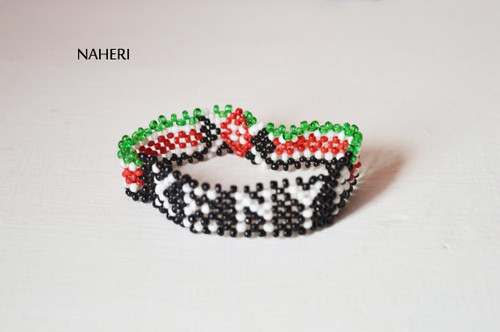 Kenyan flag wristband bracelet African jewelry