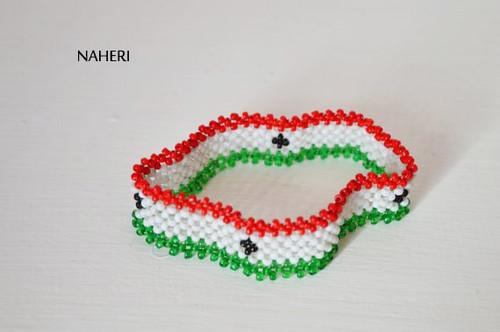 African beaded Flag bracelet Somaliland
