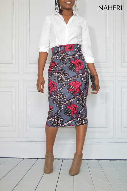 African print pencil skirt ankara skirt casual African inspired clothing