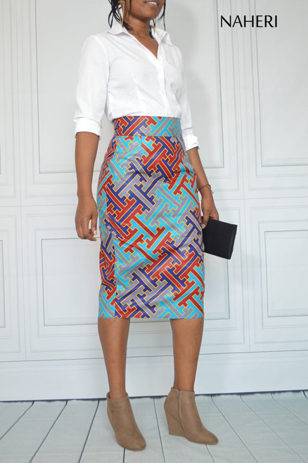 African inspired pencil skirt - NINA ankara print skirt