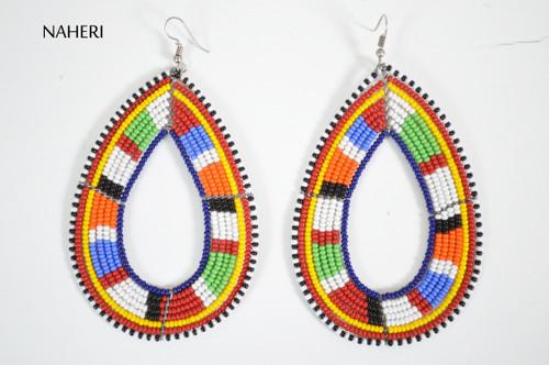 African beaded maasai hoop earrings trendy