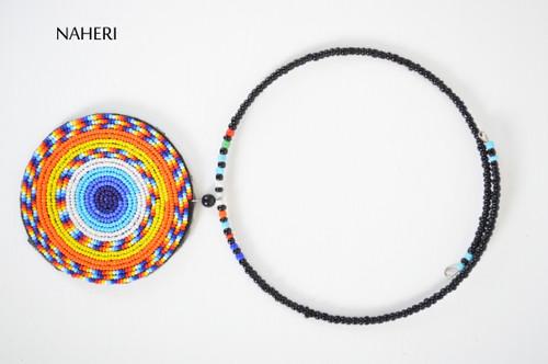 Beaded African pendant neck piece maasai jewelry naheri