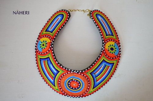 African handmade bib necklace maasai collar jewelry